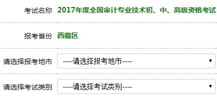 西藏2017年审计师考试报名入口6月27日关闭