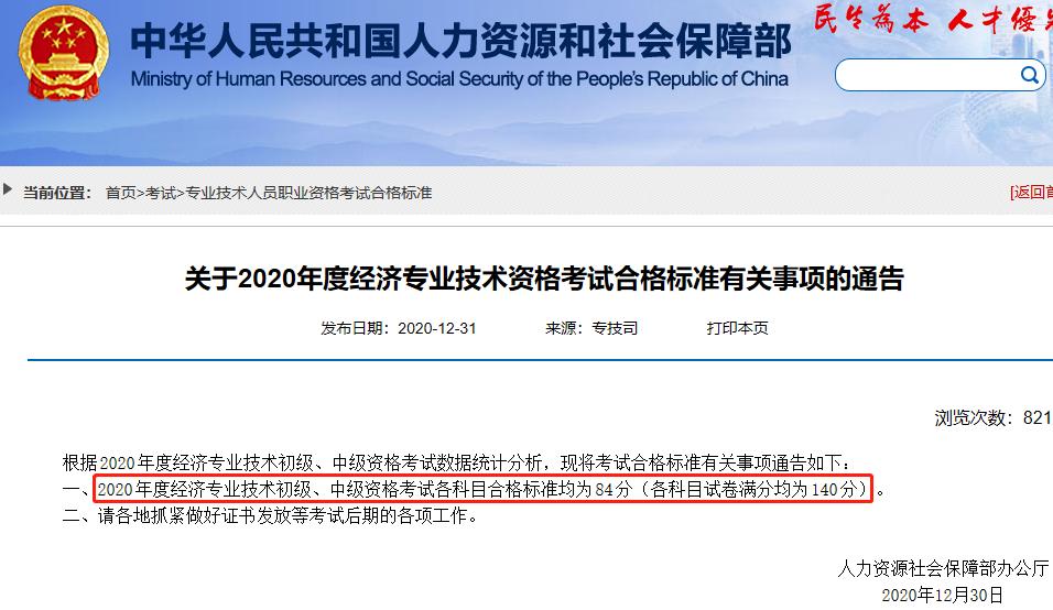 浙江中级经济师分数线图片
